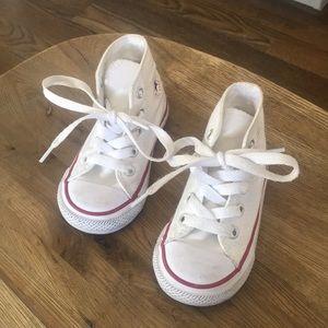 White converse toddler high tops